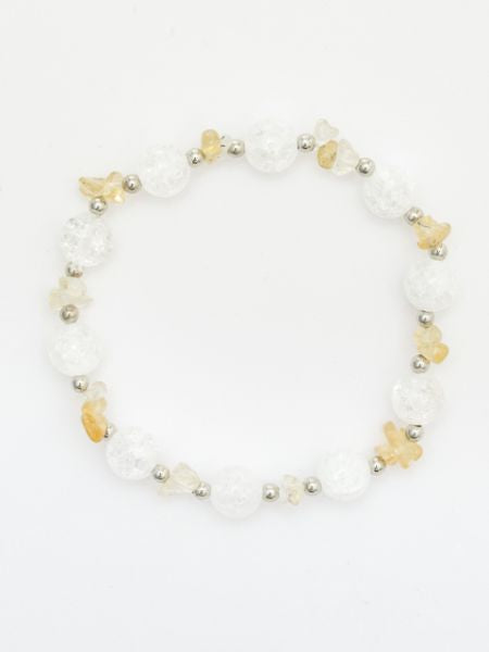 NOV Birthstone Citrine x Cracked Crystal Armband-Ametsuchi