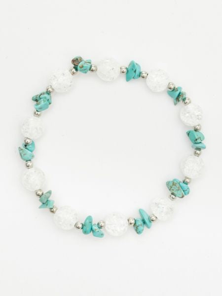 DEC Birthstone Turquoise x Cracked Crystal Armband-Ametsuchi