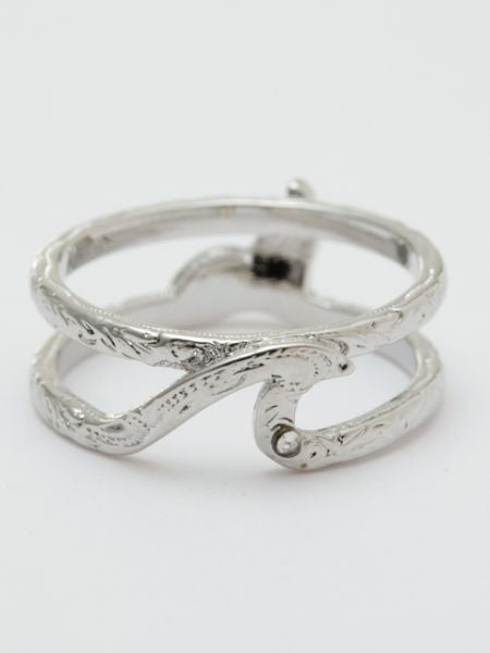Wave Whale Tale Ring