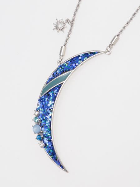 Glitter Moon Necklace