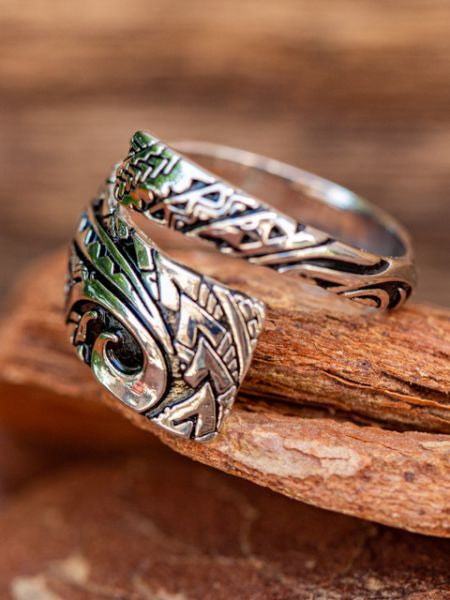 Tribal Tattoo Inspired Ring-Ametsuchi