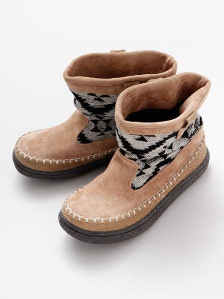 GEOM Pattern BOHO Short Boots -Shoes-Ametsuchi