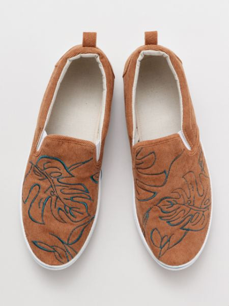 MONSTERA Embroidery Slip On Chaussures