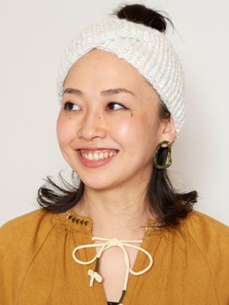 Mixed Yarn Knit Hair Band