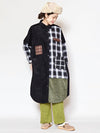 Patchwork Shirt Dress-Ametsuchi