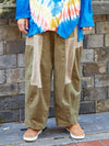 Bi Color Patchwork Pants-Ametsuchi