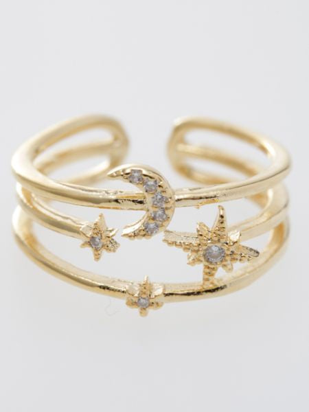 Moon Star Ring-Rings-Ametsuchi