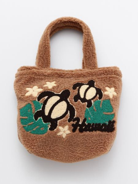 Chenille Embroidery Boa Bag