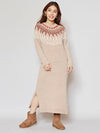 Mole Knit Jacquard Dress-Ametsuchi