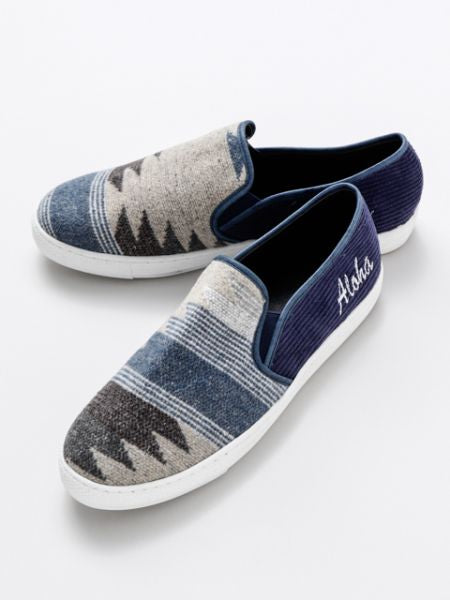 GEOM Pattern Slip On Shoes
