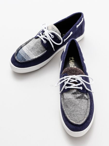 Corduroy Deck Shoes-Shoes-Ametsuchi