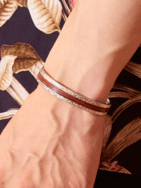 KOA Wood Feel Men's Bangle-Bangles & Bracelets-Ametsuchi