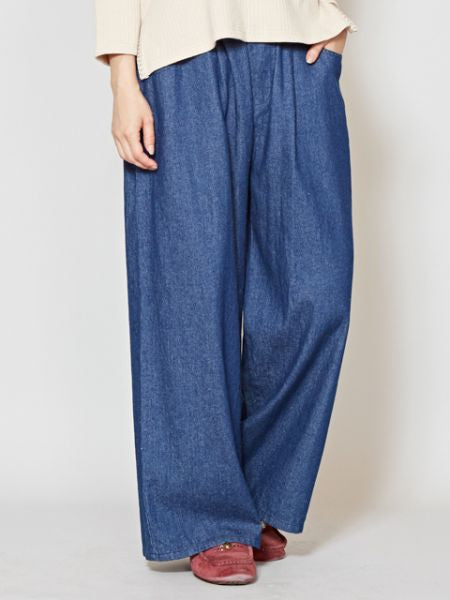 Navajo Embroidery Denim Wide Leg Pants