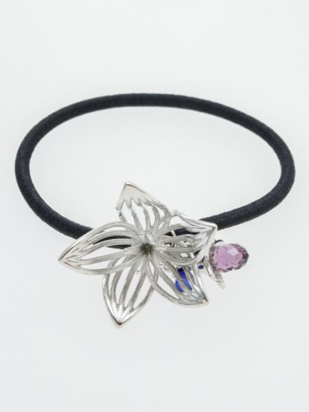 Winter Flower Dew Hair Tie