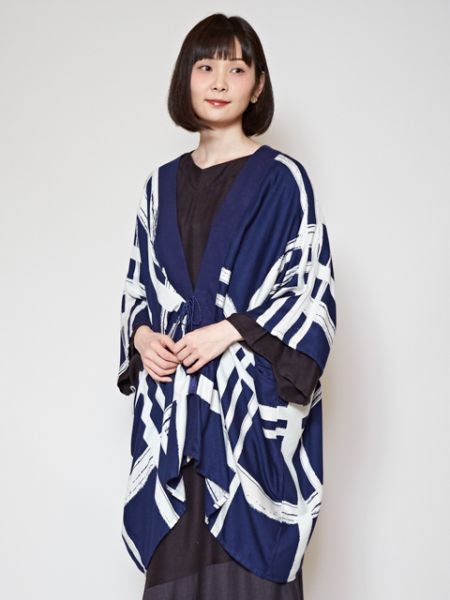 Lattice Pattern HAORI Cardigan