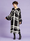Lattice Pattern YUKATA Style Dress