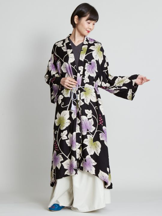 Grape Leaf Pattern KIMONO Cardigan