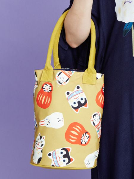 Japanese Craft Pattern Bucket Tote Bag