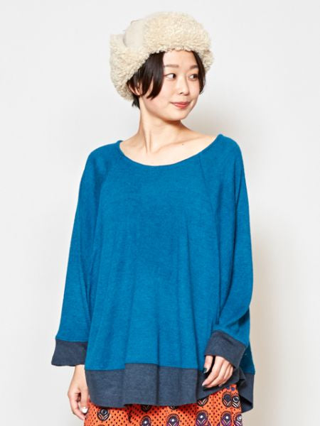 Bi Color Dolman Sleeve Top