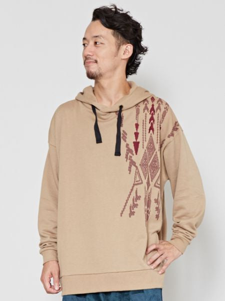 Navajo Pattern Sweat Hoodie Jacket