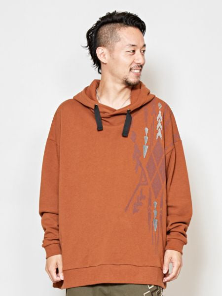 Navajo Pattern Sweat Hoodie Jacket-Ametsuchi