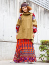 Volume Sleeve Bohemian Tunic Top-Ametsuchi