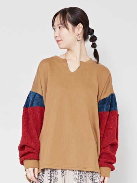 Patchwork Sweat Pullover-Ametsuchi