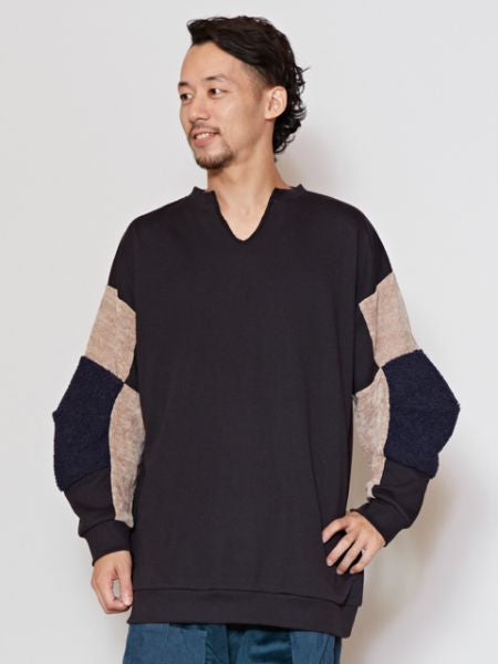 Patchwork Sweat Pullover