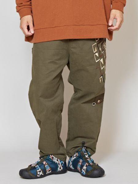 Navajo Pattern Embroidered Work Pants