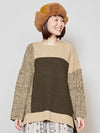 Patchwork Knit Pullover