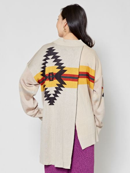 Navajo Pattern Knit Top-Ametsuchi