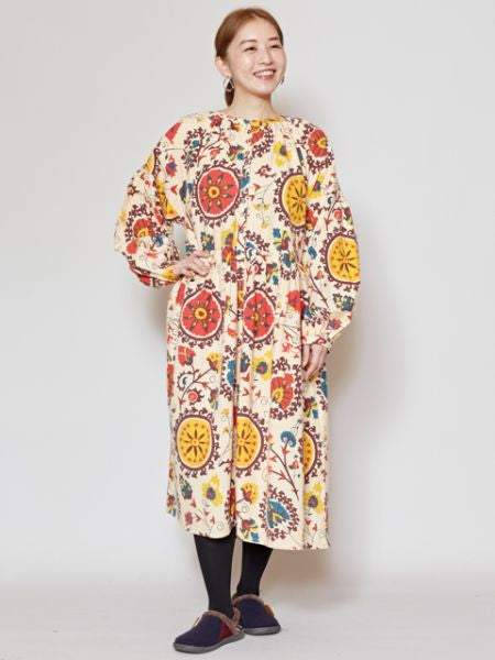 Uzbek Pattern Inspired Shirt Dress