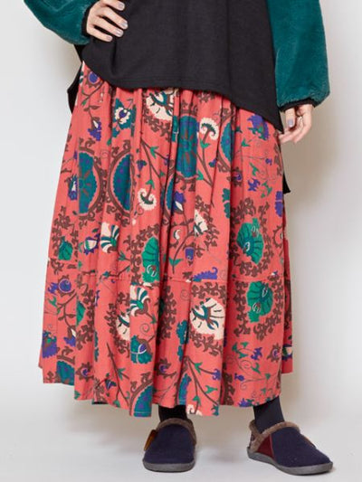Uzbek Pattern Inspired Long Skirt