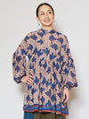 KITENGE Leaf Pattern Long Blouse-Ametsuchi