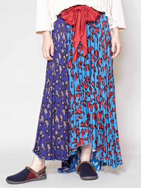 Colorblock Safari Pattern Skirt-Ametsuchi