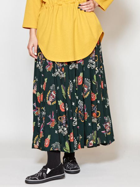 Mexican Motif Long Skirt-Skirts-Ametsuchi