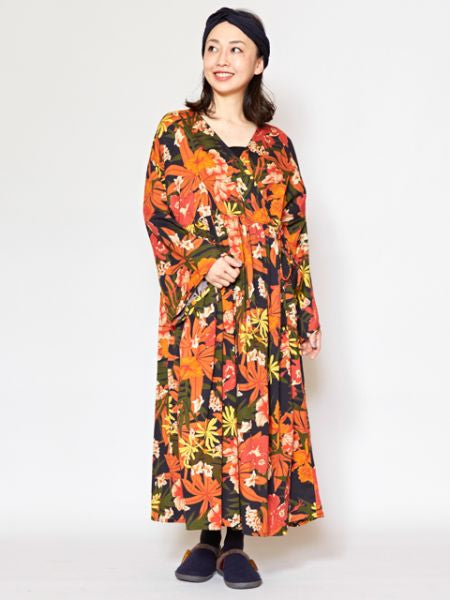 Bohemian Flower Crossover Dress