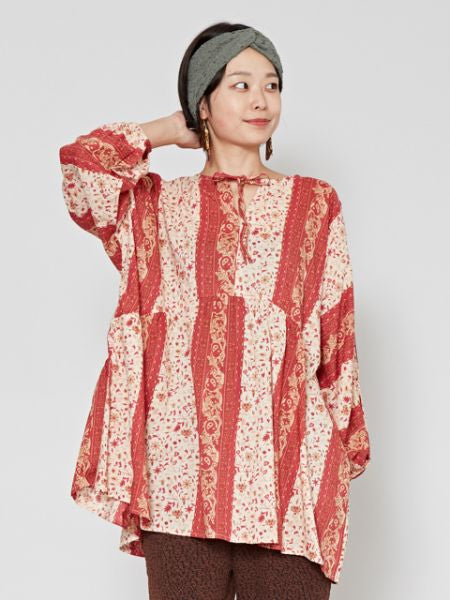 Retro Flower Blouse-Ametsuchi