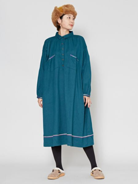 Shepherd Collarless Dress
