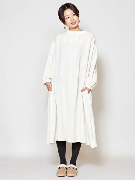 Linen Embroidery Kaftan Dress