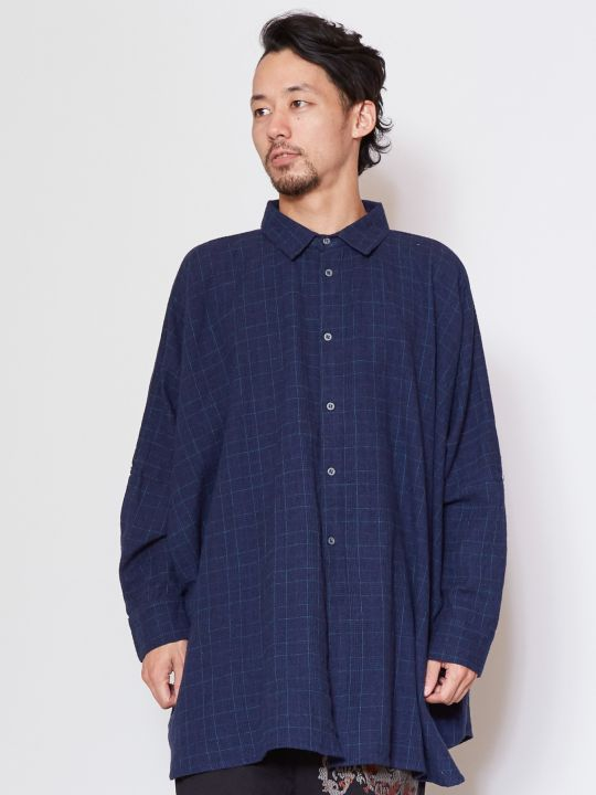 Glen Check Oversized Shirt
