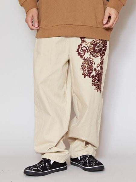 Embroidered Stretchable Pants
