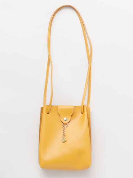 Faux Leather Minimalist Shoulder Bag