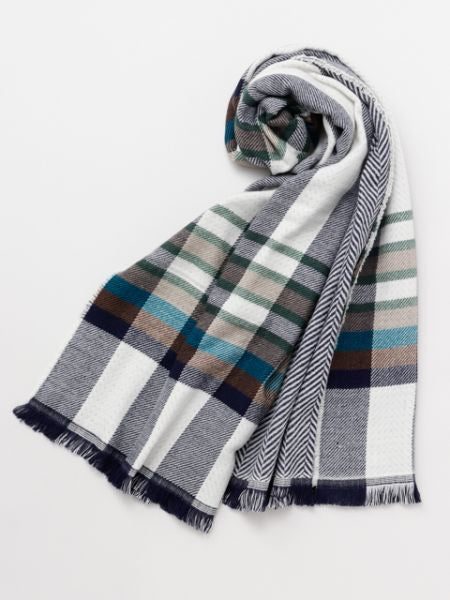 Stripe Shawl -Scarves-Ametsuchi