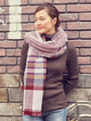 Stripe Shawl-Scarves-Ametsuchi