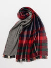 Houndstooth x Plaid Shawl -Scarves-Ametsuchi