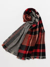 Houndstooth x Plaid Shawl-Scarves-Ametsuchi