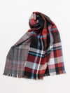 Double Glen Plaid Shawl-Scarves-Ametsuchi