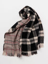 Double Border Tartan Shawl -Scarves-Ametsuchi