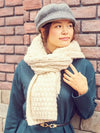 Basketweave Knit Shawl-Scarves-Ametsuchi